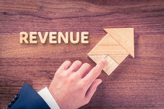 Revenue increase Royalty Free Stock Photo