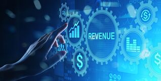 Free Revenue Increase Sales Financial Growth Business Concept On Virtual Screen. Stock Photography - 196775892