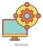 Revenue line icons. Stock Photo
