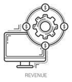 Revenue line icons. Stock Photography