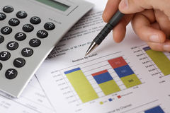 Revenue by Market and finance stock photos