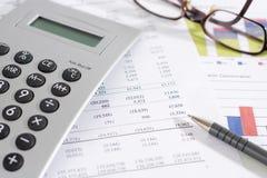 Revenue and numerals Stock Photos
