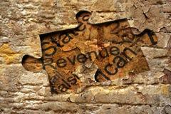 Revenue puzzle concept Stock Photography