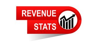 Revenue stats banner. Icon on isolated white background - vector illustration Royalty Free Stock Photography