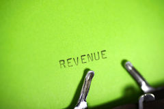 Revenue Typing Stock Photo