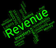 Revenue Word Represents Words Wordcloud And Revenues Royalty Free Stock Photos
