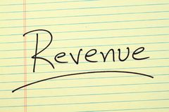 Revenue On A Yellow Legal Pad Stock Photos