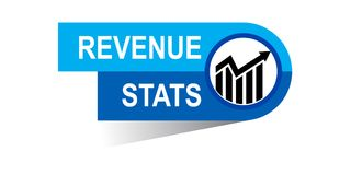 Revenuel stats banner. Icon on isolated white background - vector illustration Stock Images