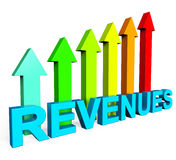 Revenues Increasing Indicates Financial Report And Diagram Stock Photography