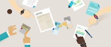 Revenus d'EBITDA avant intérêt, impôts, dépréciation et amortissement Images libres de droits