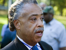 The Reverend Al Sharpton. The Rev. Al Sharpton speaking at a protest to stop the execution of Troy Davis, a Georgia death penalty case which has garnered Royalty Free Stock Photography
