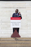 Reverend Dr. Jamal Bryant. Speaks at the National Action to Realize the Dream march and rally for the 50th Anniversary of the march on Washington and Martin Royalty Free Stock Photo
