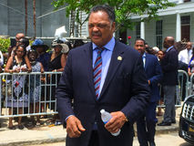 Reverend Jesse Jackson at funeral for Cynthia Hurd. The Reverend Jesse Jackson leaves Emanuel A.M.E. church after the funeral service for Cynthia Hurd.  Hurd Royalty Free Stock Image