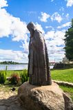 Reverend Nil Stolobensky memorial in the Nilus Monastery on the lake Seliger, Tver region. Russia. Picturesque peaceful corner of nature away from the urban Stock Images