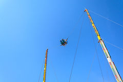 Reverse Bungee with blue sky Stock Image