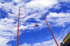 Reverse Bungee Ride Royalty Free Stock Photography