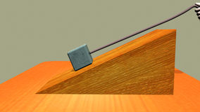 Reverse force acting on an inclined plane