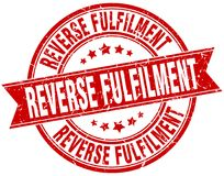 Reverse fulfilment stamp. Reverse fulfilment round grunge ribbon stamp isolated on white background Royalty Free Stock Images