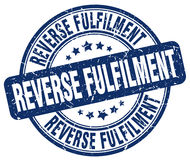 Reverse fulfilment stamp Stock Photo