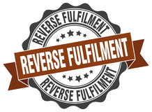 Reverse fulfilment stamp Royalty Free Stock Images