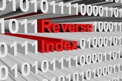 Reverse index Royalty Free Stock Photos