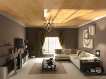 Reverse  interior. Design (private apartment 3d rendering Stock Image