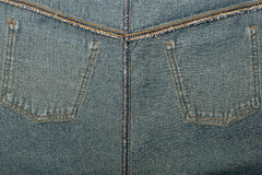 Reverse jeans pockets Royalty Free Stock Image