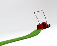 Reverse lawn mover. A concept of a reverse lawnmover gardenning Royalty Free Stock Image