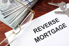 Reverse mortgage form. Stock Images
