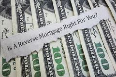Reverse mortgage question royalty free stock photos