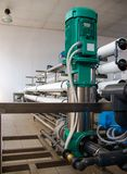 Reverse osmosis system - installation of industrial membrane devices. To the purification of drinking water: pumps, pipelines, tanks, etc royalty free stock images
