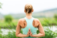 Reverse Prayer Yoga Pose Stock Images