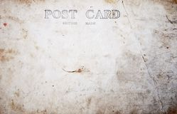 Reverse side of blank postcard Royalty Free Stock Images