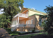 Reverse side of the manor house in the Lermontov estate Tarkhany Royalty Free Stock Image
