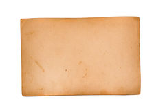Reverse side of an old photo Royalty Free Stock Photography
