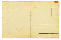 Reverse side of an old postal card Royalty Free Stock Image