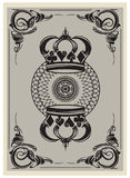 Reverse side of a playing card Stock Image