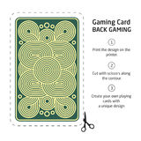 The reverse side of a playing card for blackjack other game with. Reverse side of a playing card for blackjack other game with stock illustration