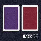 The reverse side of a playing card for blackjack other game with a pattern. Stock Photos