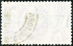 The reverse side of a postage stamp Stock Photos