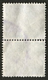 Reverse side of a postage stamp. Royalty Free Stock Photos