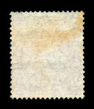 Reverse side of a postage stamp. Royalty Free Stock Photography