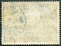 The reverse side of a postage stamp Royalty Free Stock Photography