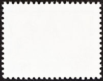 Reverse side of a postage stamp Stock Photos