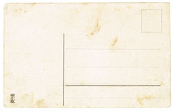The reverse side of postcards of the early twentieth century. Royalty Free Stock Photo