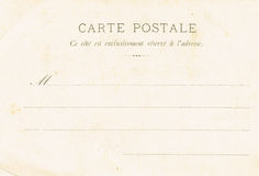 The reverse side of postcards of the early twentieth century. Vintage postcard Royalty Free Stock Images