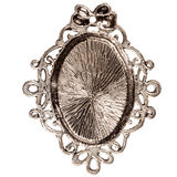 Reverse side of silver pendant Royalty Free Stock Image