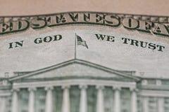Reverse ten dollar bill. Close up stock images