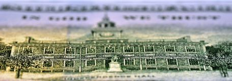 Reverse of 100 USD note royalty free stock images