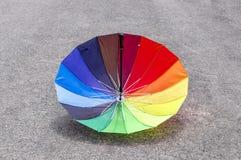 Reversed multicolored umbrella Stock Images